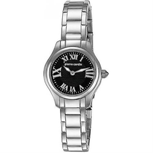 Pierre Cardin Women's Quartz Watch with Black Dial Analogue Display and Sil