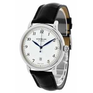 300434 / Montblanc Star Legacy Auto 42MM White Silver Dial Men's Watch 116511