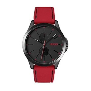 Hugo Boss Hugo Mens #Jump Quartz Black IP and Rubber Strap Casual Watch Color: Black (Model: 15300