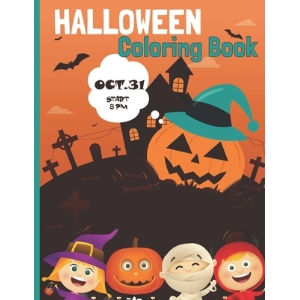 Halloween Coloring book: Activity Books Children and Seniors: Coloring Workbooks for Kids Paperback, Independently Published, English, 9798550047279